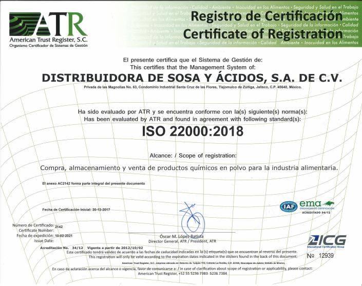 Certificado 22000